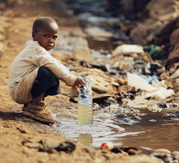 Clean drinking water and proper sanitation; Conclusion meets crisis solution.